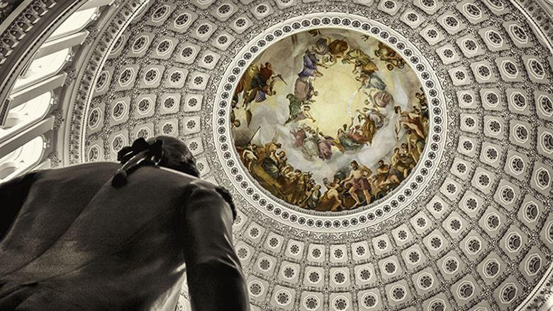 ceiling inside the U.S. Capitol
