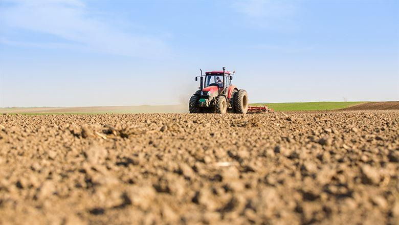 tractor on empty field
