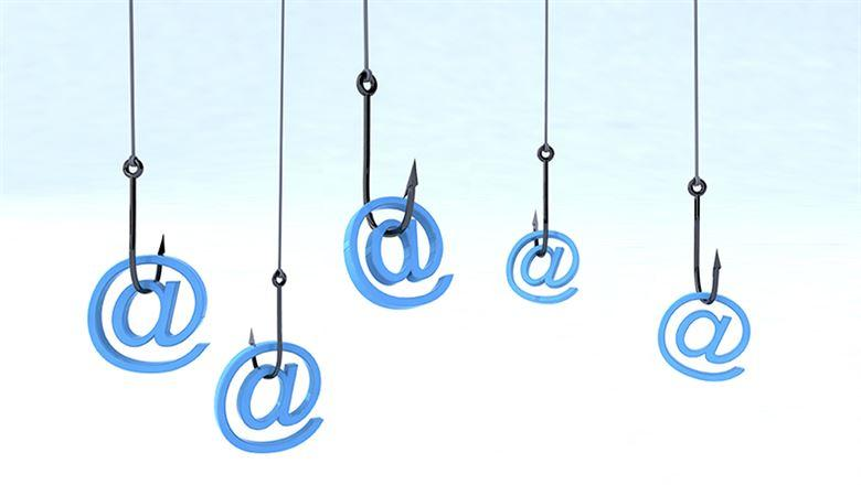 five at symbols hanging from fishhooks