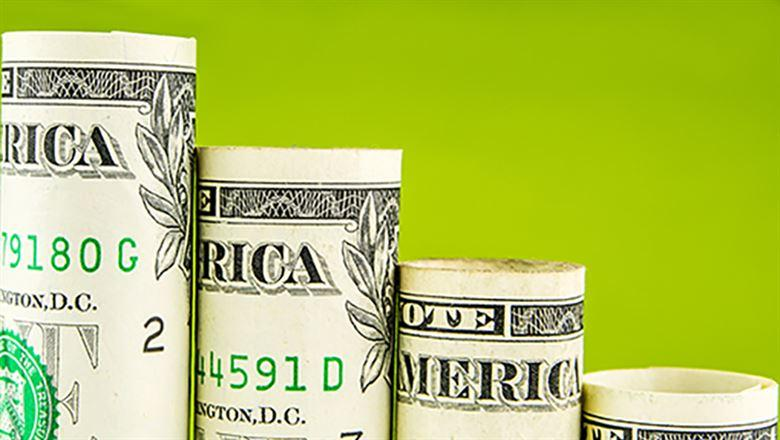 rolls of American one dollar bills