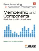 Benchmarking in Association Management: Membership & Components  Policies and Procedures (PDF Download)